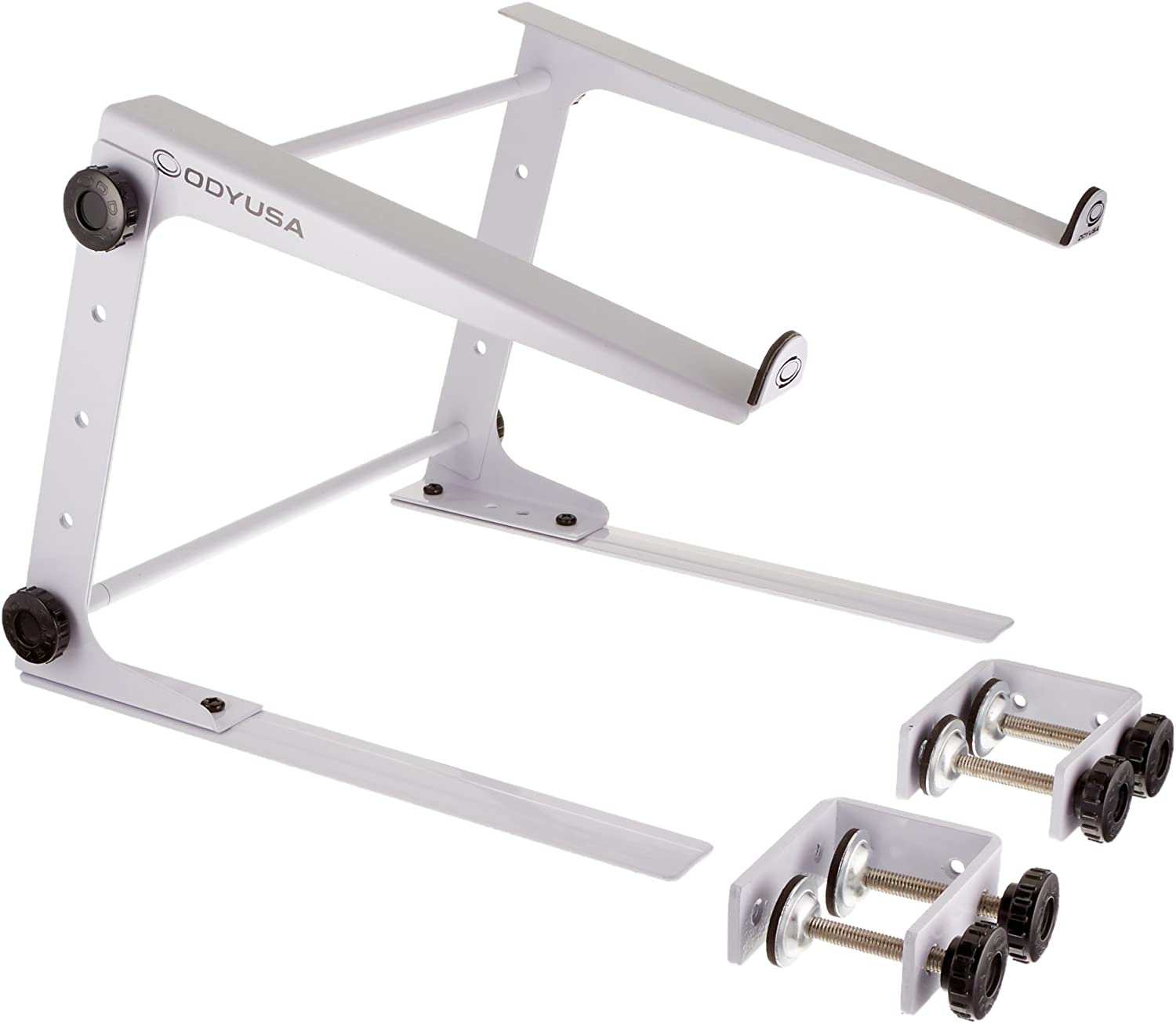 Odysset L Stand WhiteDJ Laptop Stand With Clamps