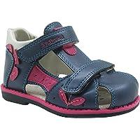 Apakowa Toddler Girls Double Adjustable Strap Closed-Toe Sandals