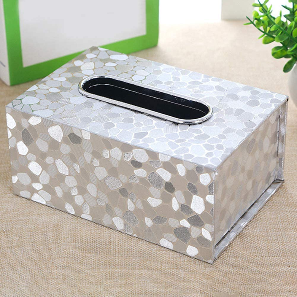 Wakauto Gesicht Taschentuch Box Cover Halter Rechteck Serviettenhalter Pumping Paper Case Spender mit Abnehmbarer Holzabdeckung f/ür Home Office Auto Dekoration Gelb
