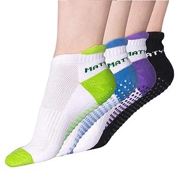 Goture - Calcetines Antideslizantes para Mujer (para Yoga, Pilates, Barre, Bikram, Fitness o Gimnasio)