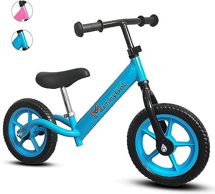 "12"" Kids Balance Bike No Pedal Child Training Bicycle w// Adjustable Seat Black"