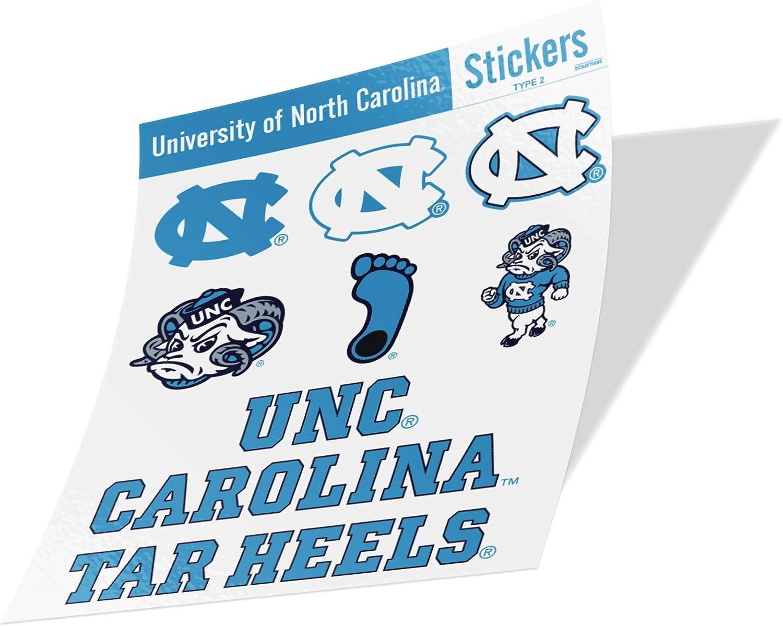 University of North Carolina Sticker Vinyl Decal Laptop Water Bottle Car Scrapbook (Type 2 Sheet C)