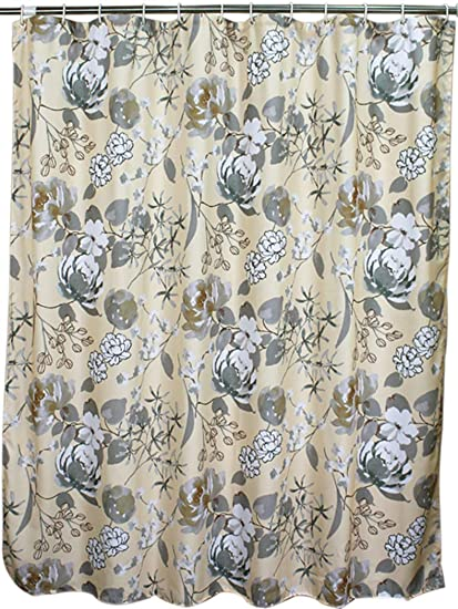 Amazoncom Welwo Water Repellentwaterproof Fabric Shower Curtain