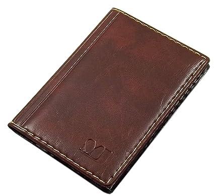Elegante tarjetero para tarjeta de crédito y tarjeta de visita en varios colores y diseños (Diseño 1 / Marrón)