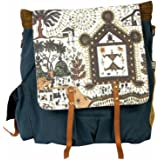 The House Of Tara Warli Print Backpack (Multicolour)