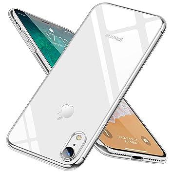 d672b11947 iphone XR ケース クリア 耐衝撃 透明 tpu シリコン 防塵 指紋防止 ソフト おしゃれ かわいい Qi