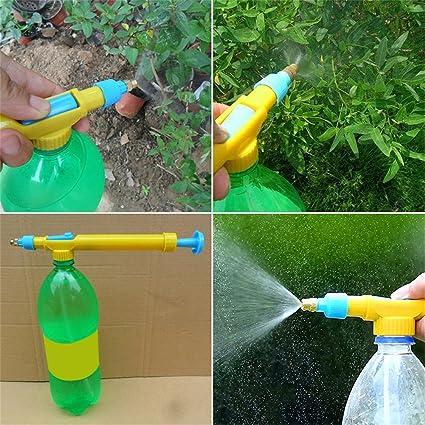 Quanjucheer Mini Botellas Carro Pistola Interfaz Pulverizador Cabeza Agua Deportes Jardín Flor Riego