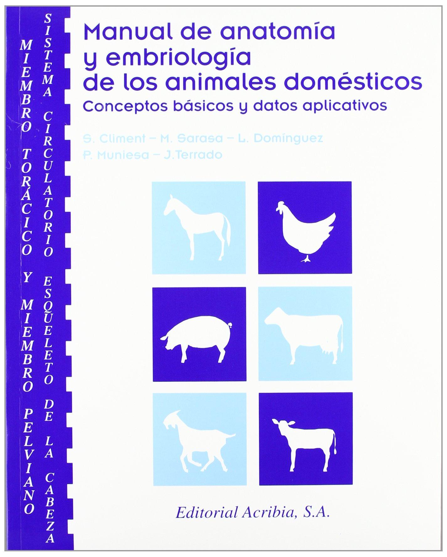 Manual de Anatomia y Embriologia de los Animales Domesticos: Conc ...