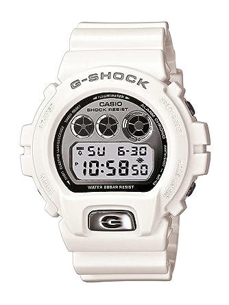 Casio DW-6900MR-7ER - Reloj digital de cuarzo para hombre con correa de resina, color blanco: Amazon.es: Relojes