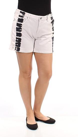6d8de38ea62 Kiind Of Women s Artful Relaxed Fraycuff Shorts 31 Black Tie Dye ...