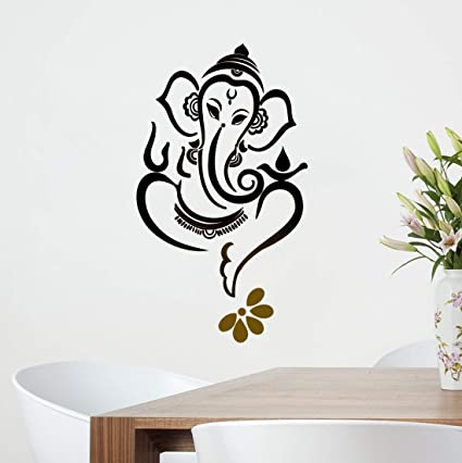 4da10c5f31d Image Unavailable. Image not available for. Colour  Decor Kafe  Ganesh Ji  Wall  Sticker (Vinyl ...
