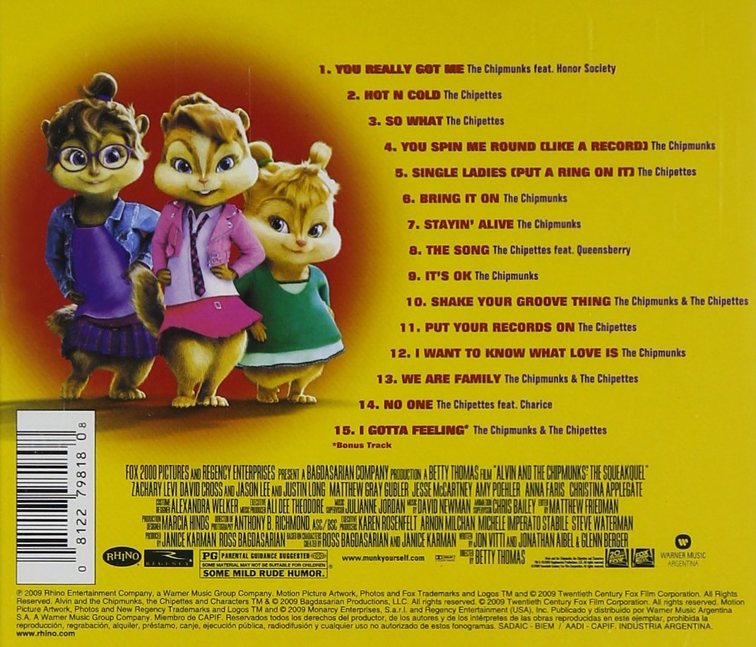 alvin and the chipmunks 2 songs free download