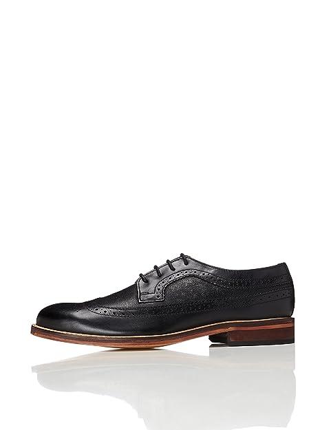 FIND Zapatos de Cuero con Cordones Para Hombre, Marrón (Tan), 42 EU