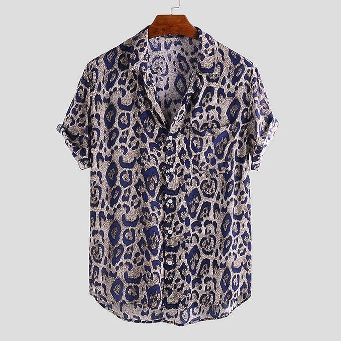 XuanhaFU Camiseta Hombre de Verano, Camisa De Manga Corta con ...