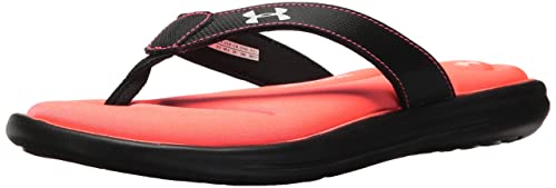 separation shoes 03bab 6c3fe Under Armour Women s Marbella VI Thong, Black Brilliance, 6 B(M)