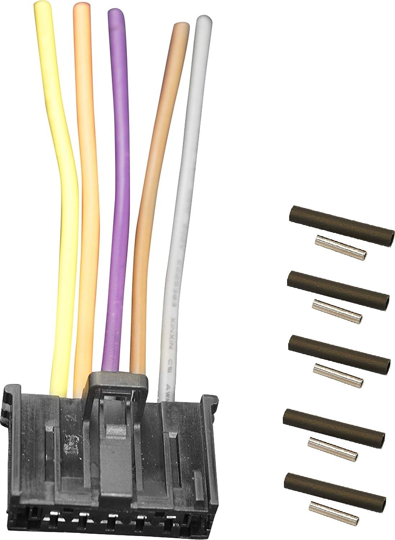 Twowinds 77364061 Elektrischer Stecker Heizwiderstand Heizungslüftung Thermoretraktile Isolierung Mito Punto Doblo Ducato Boxer Corsa Auto