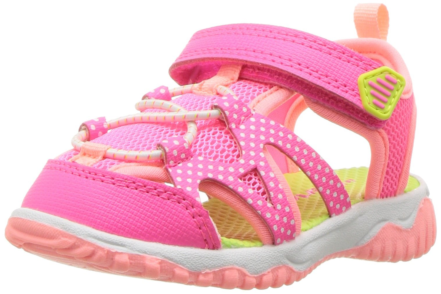 Carter's Baby Zyntec Boy's and Girl's Athletic Sport Sandal, Pink, 8 M US Toddler