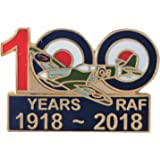 RAF Royal Air Force 100 Years Spitfire 1918 to 2018 Centenary Pin Badge