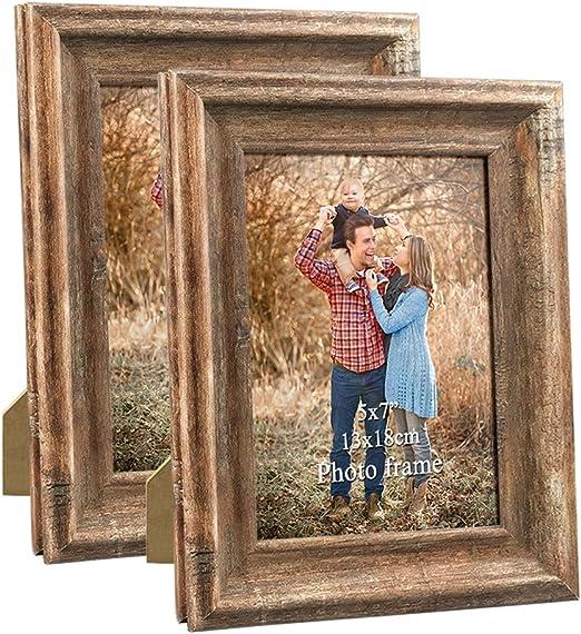 Oak Effect Multi Aperture  14x18  Picture Photo Frame Holds 5x7 Photos