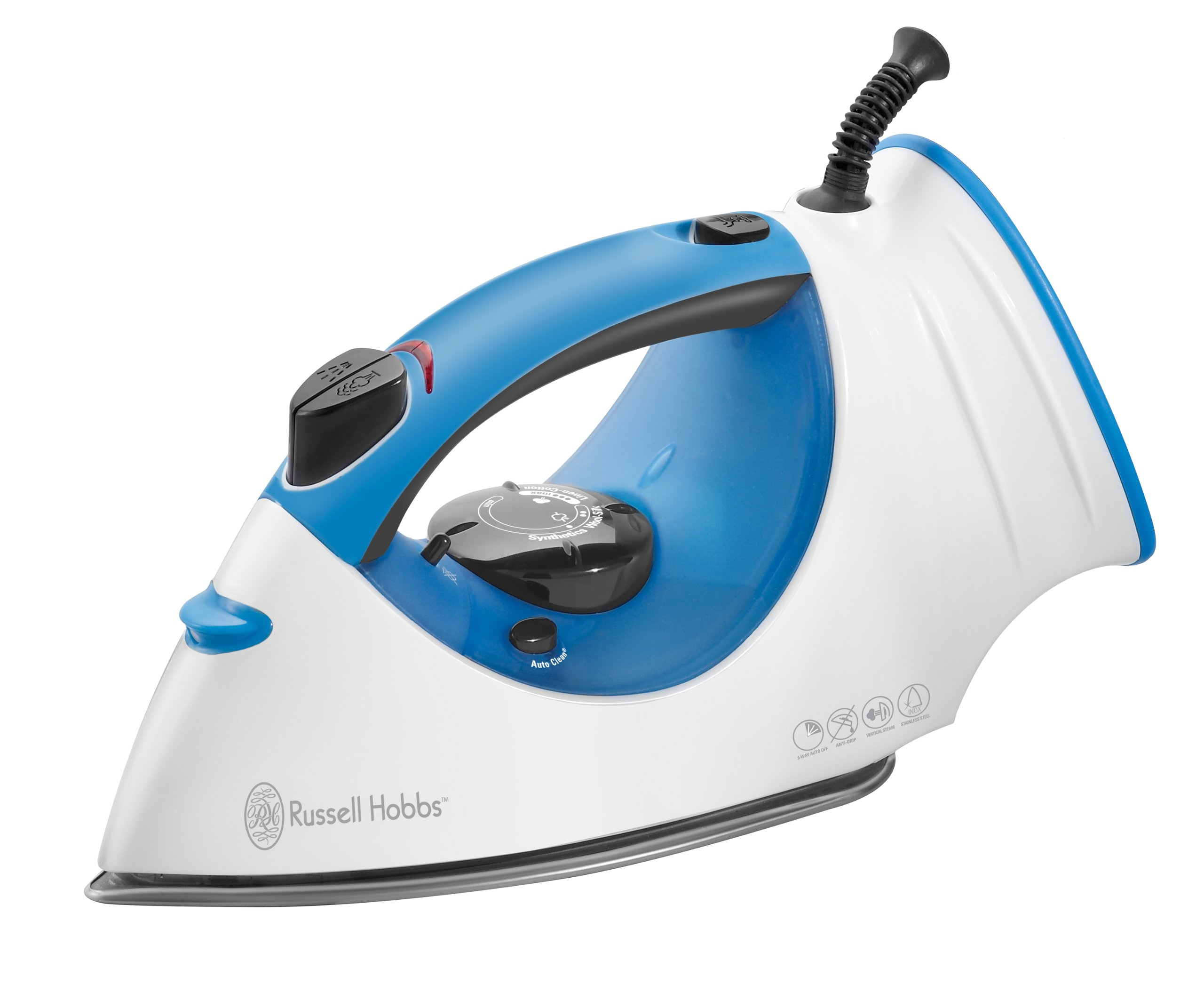 Russell Hobbs IR5000 Easy Fill Iron with Verticle Steam Burst, White/Blue