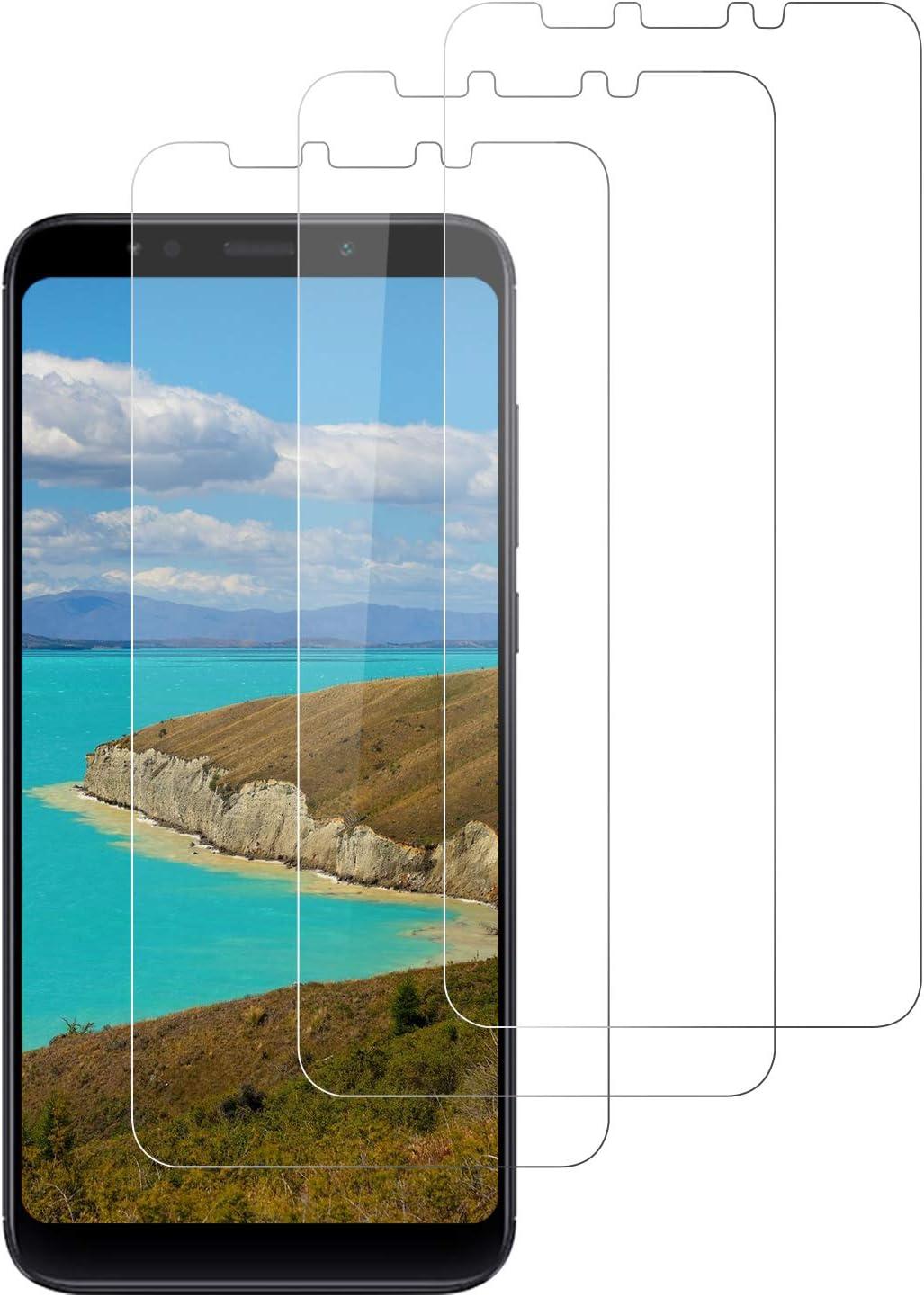 DOSNTO 3 Pack Protector de Pantalla para Xiaomi Redmi 5 Plus, Cristal Templado para Redmi 5 Plus 9H Dureza, Sin Burbujas,Anti-Huella, Resistente a Arañazos y Golpes, Fácil de Instalar - Transparente