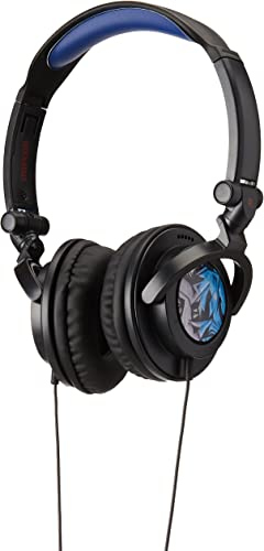 Maxell 190265 Fold Up Wired Lightweight Soft Comfort Extra Large 40mm Long Wear Headphones Amplified-Blue