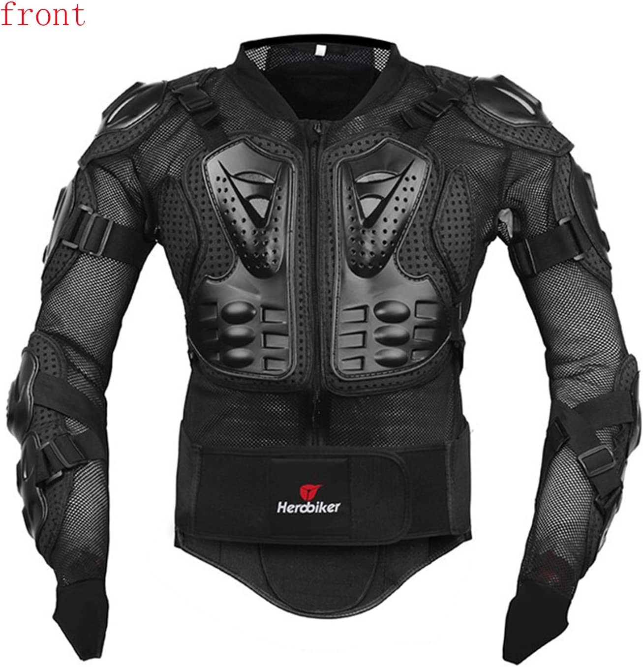Body Armour Motorcross,Motorbike Full Body Armor Armour Protective Gear Racing Shirt Jacket Protector with Chest Back Protection Motorbike Armour for Men