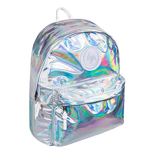 8bb50df5d946 Hype Backpack Bags Rucksack - Holographic Silver V2 Design - Ideal School  Bags - For Boys