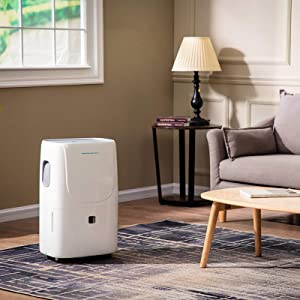 Emerson Quiet Kool High Efficiency 70-Pint Smart Dehumidifier with Wi-Fi and Voice Control, EAD70SE1, White