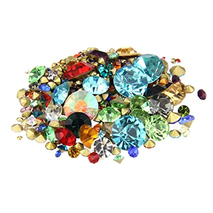 Nizi Jewelry Nail Rhinestones Mixed Color Nail Art Strass Pointed Stone DIY  Craft Tiny Rhinestone Perfect 77d62990f489