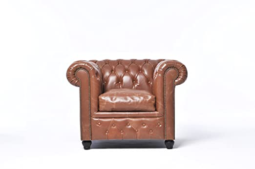 Chesterfield Brand- sillón chester vintage mocca - hecho ...
