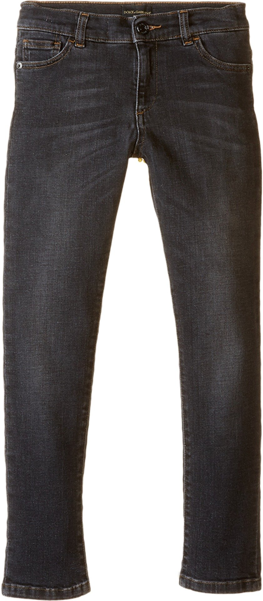 Dolce & Gabbana Kids Boys' Back to School Jeans, Grey Denim, 12 (Big Kids) X One Size by Dolce & Gabbana