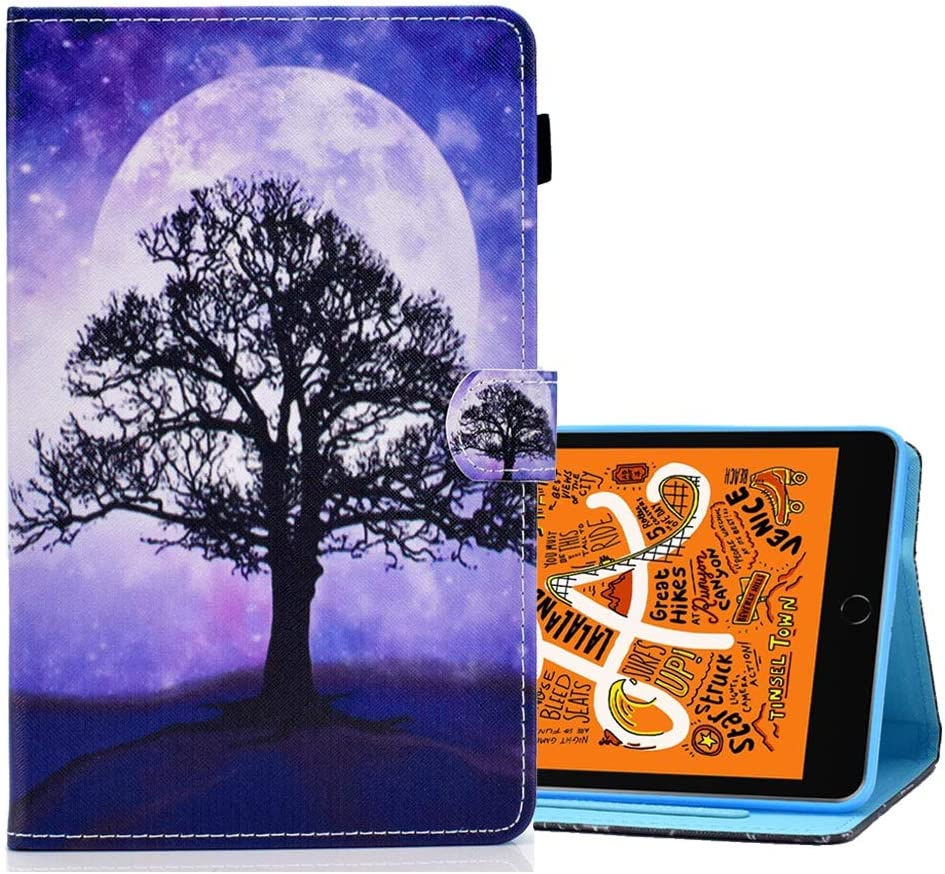 "A-BEAUTY Case for iPad Air 10.5"" (3rd Gen) 2019 / iPad Pro 10.5"" 2017, Painted PU Leather [Magnetic Closure] with Pencil Holder Auto Wake/Sleep, Life Tree"