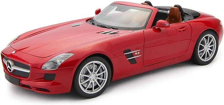 2011 Mercedes-Benz SLS AMG Roadster Red Bburago 30010 1:43 Die Cast