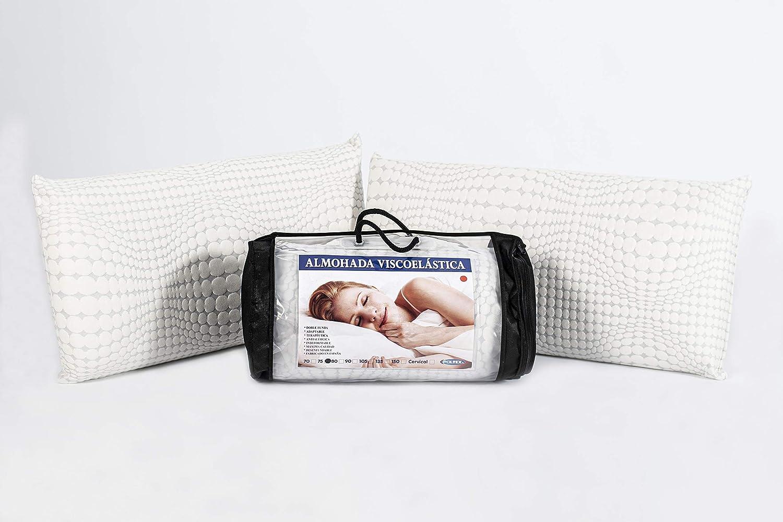 OkColchones Pack 2 Almohada Relax Viscoelástica - Transpirable ...