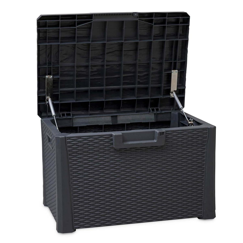 TOOMAX Nevada 120Liter Langlebig witterungsbeständig Mehrzweck-Kompakt Indoor/Outdoor Rattan Finish abschließbar Aufbewahrungsbox Toomáx