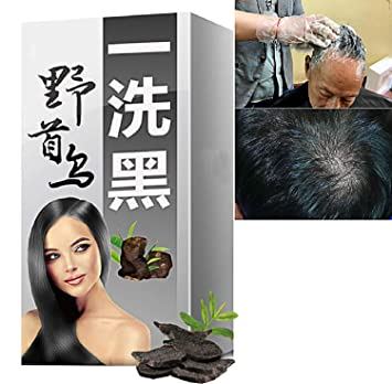 Amazon.com : 5 Minutes Quick Grey Hair Removal Dye Hair ...
