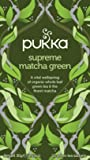 Pukka Supreme Matcha Green, Organic Herbal Green Tea with Oothu, Sencha & Suio Gang (4 Pack, 80 Tea bags)
