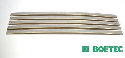 5er paquete de listones de madera para somieres, kit de reparación o de adición de refuerzo, 880x35x8 mm