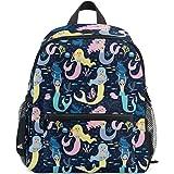 c7ecdd0c6684 ZZKKO Cute Mermaids Kids Backpack School Book Bag for Toddler Boys Girls