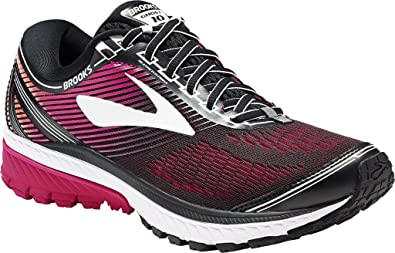 fe1b70ad3ba Brooks Women s Ghost 10 Black Pink Peacock Living Coral Athletic Shoe