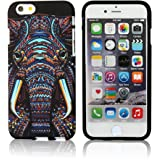iPhone 6/6s Case,CLOUDS Night Luminous Luxury Fashion Cool Cute Elephant HD Vintage Tribe Stripe Animal Pattern Premium TPU Rubber Silicone Slim Flexible Durable Soft Protective Case for iPhone 6/6s