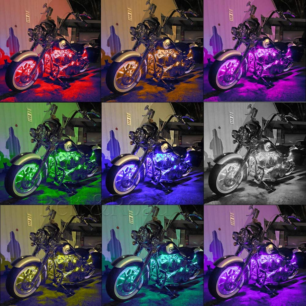 12pcs Million Color LED Under Body Neon Pod Underglow Lighting for Motorcycle