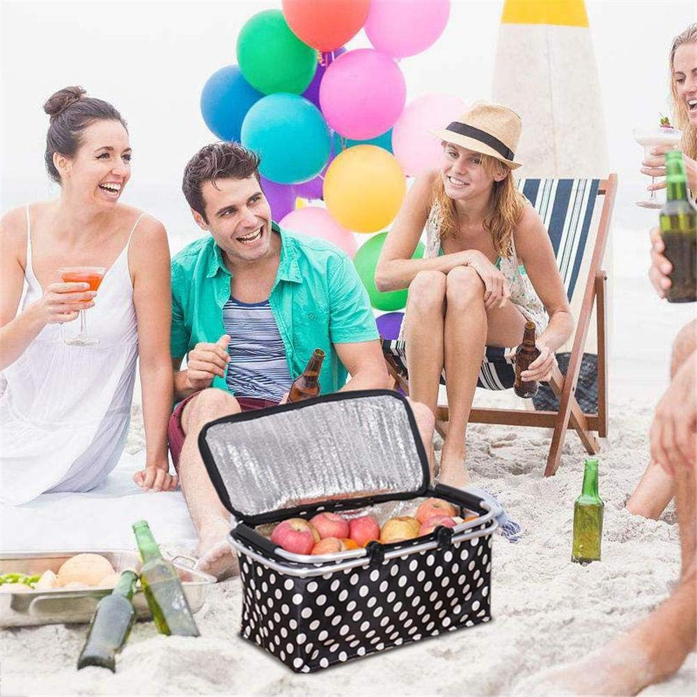 AOOPOO 600D Oxford Picknickkorb K/ühlkorb K/ühltasche faltbar wasserdicht Einkaufstasche Eisbeutel Frischtasche Thermotasche Einkaufskorb weiche K/ühler