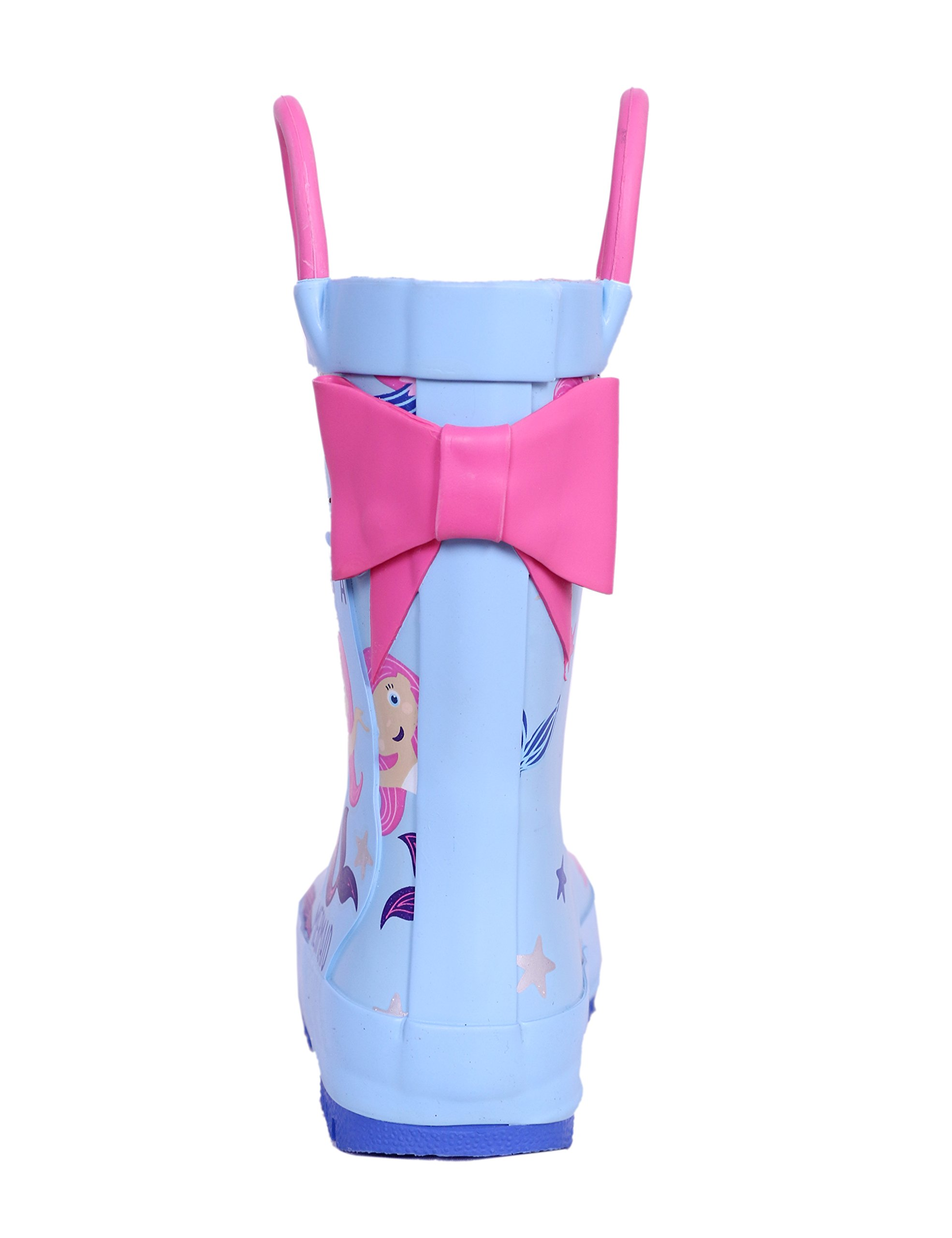 SHOFORT Girls' Rain Boots Rubber Handles Toddler, Size 9 by SHOFORT (Image #3)