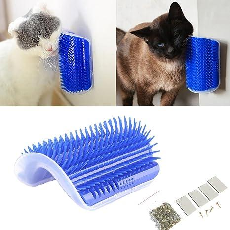 Tpocean Cat - Cepillo de masaje para gato con juguete para gatos