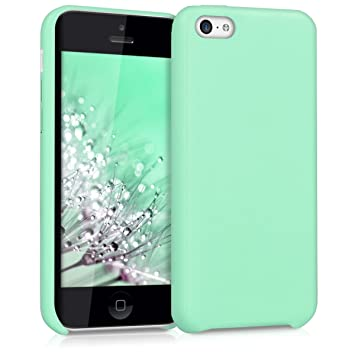 kwmobile Funda compatible con Apple iPhone 5C - Carcasa de cuero sintético para móvil - Cover en menta