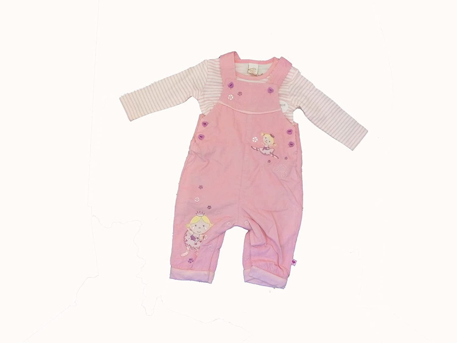 63c64286d Adams Baby Girl Dungaree Set with Bodysuit Romper in Pink 100 ...