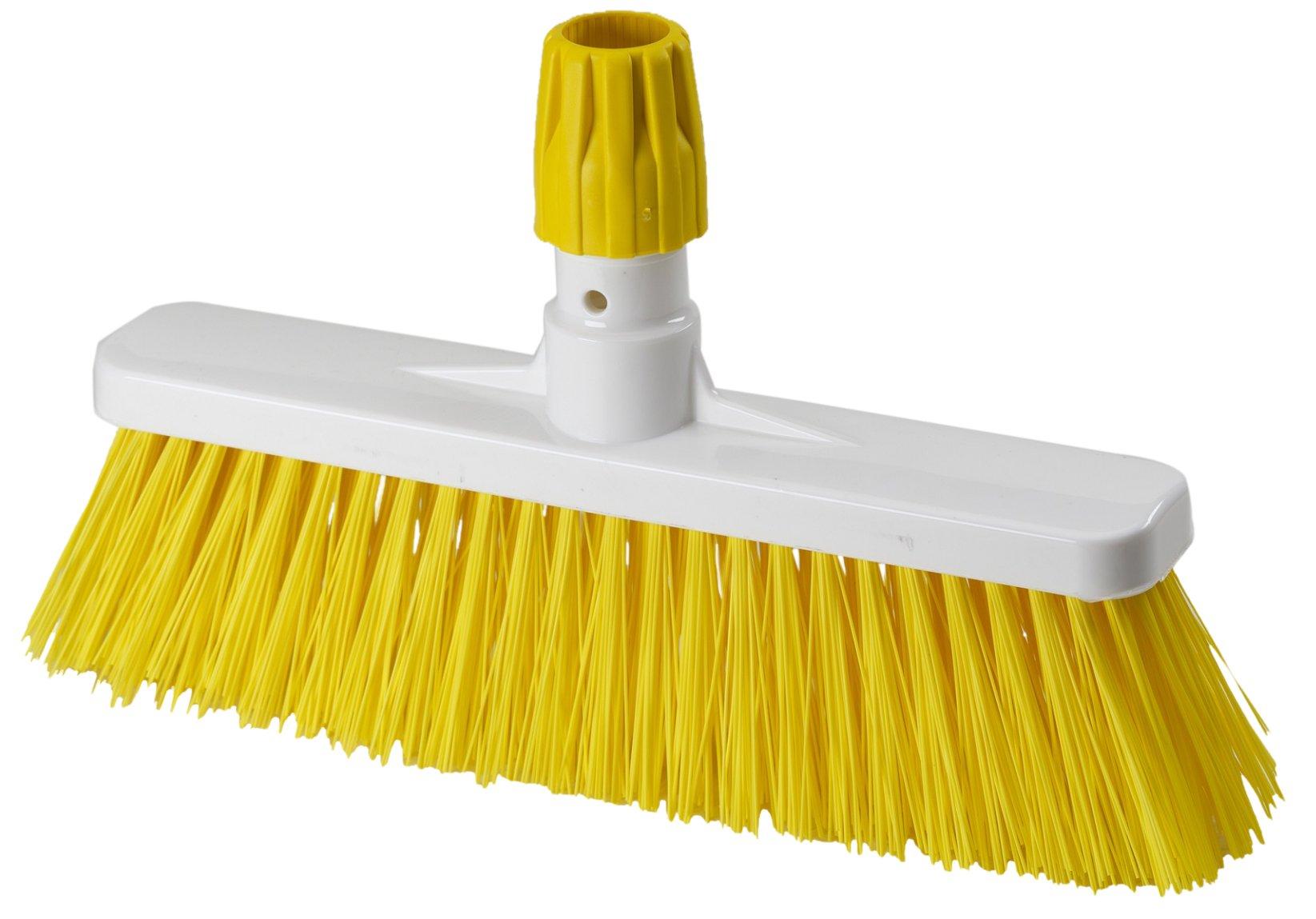 Aricasa Professional Hygiene Broom, Yellow, Hard, 5 Count