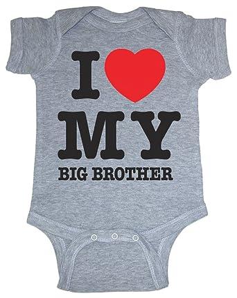 e49543e7b Amazon.com: So Relative! Unisex Baby I Love My Big Brother (Red ...